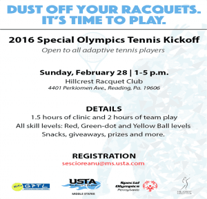 SOPA Indoor Tennis Clinic & Team Tennis Flyer